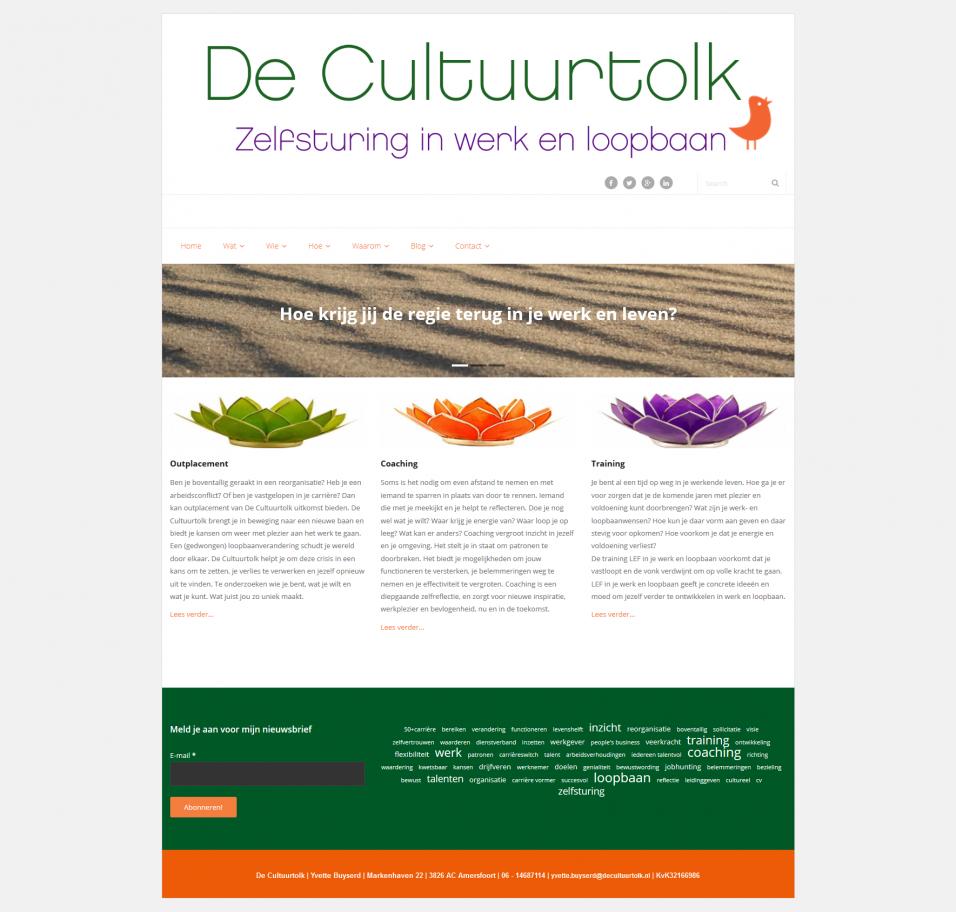 Homepage van De Cultuurtolk