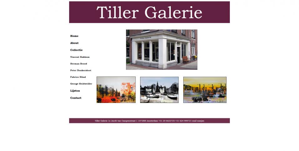 Tiller galerie Amsterdam